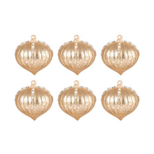 Pointed Ball Gold Ornament