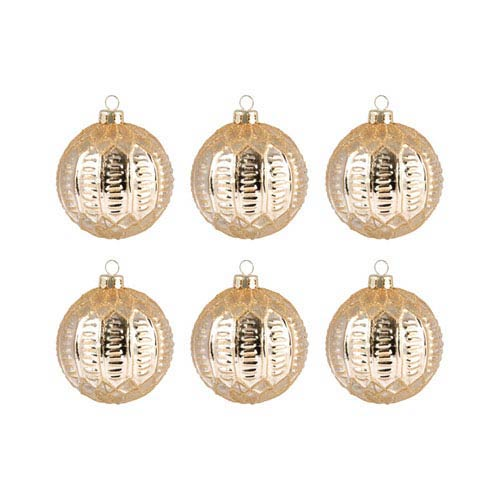 Pomeroy Round Optic Gold Ornament