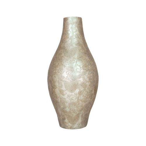 Virginia Embellished Silver 22-Inch Vase