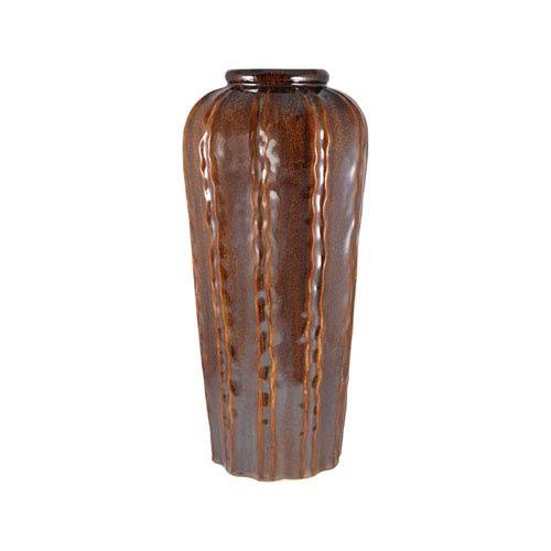 Tempest Glazed Truffle Twenty Three-Inch Vase