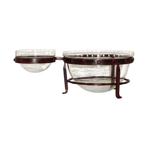 Mission Montana Rustic Chip and Dip Server