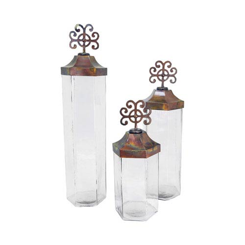 Tejas Burned Copper Jars