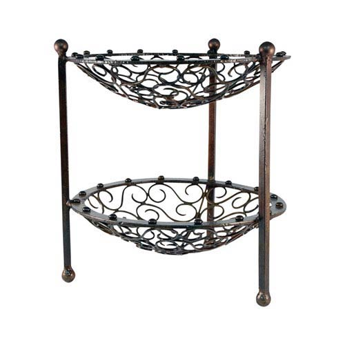 Mariano Hammered Burned Copper Utility Stand