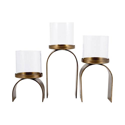 Arch Antique Brass Candle Holders
