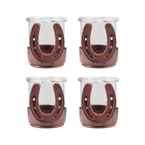 Horse Shoe Montana Rustic Three-Inch Candle Holder