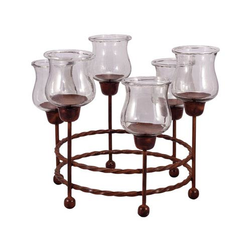 Pomeroy Rodeo Montana Rustic Round Candle Holder