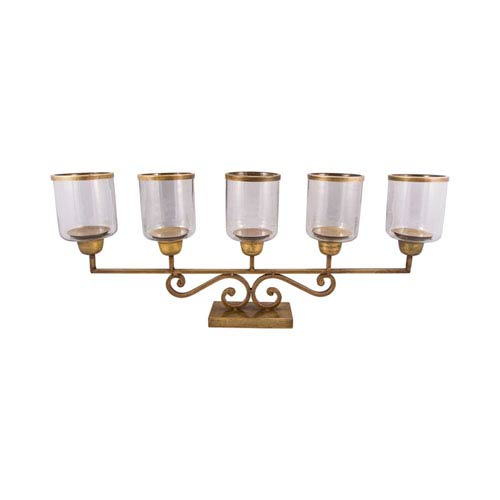 Hacienda Antique Brass Candle Holder