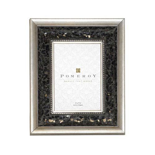 Pomeroy Tuxedo Silver and Black Five x Seven-Inch Frame