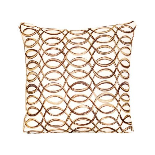 Scroll Spun Gold Throw Pillow