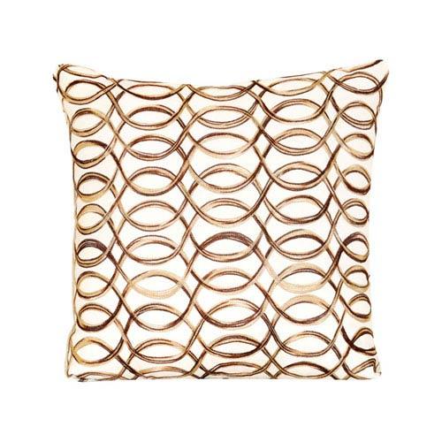 Scroll Spun Gold Throw Pillow