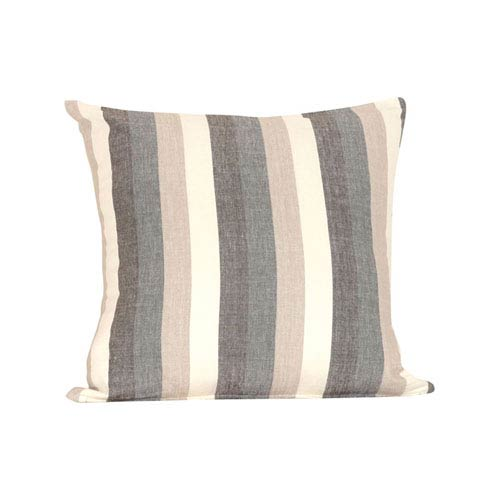 Stripes Legion Blue and Sand Throw Pillow