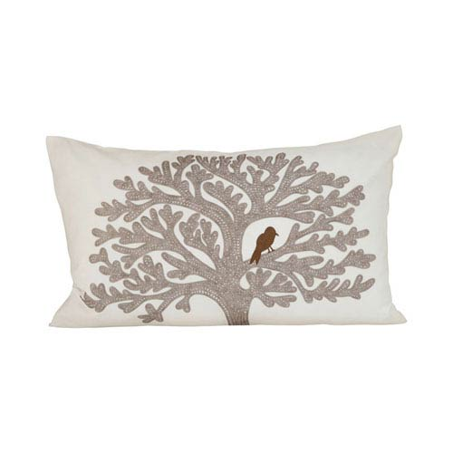 Lockwood Cream and Smoked Pearl Throw Pillow