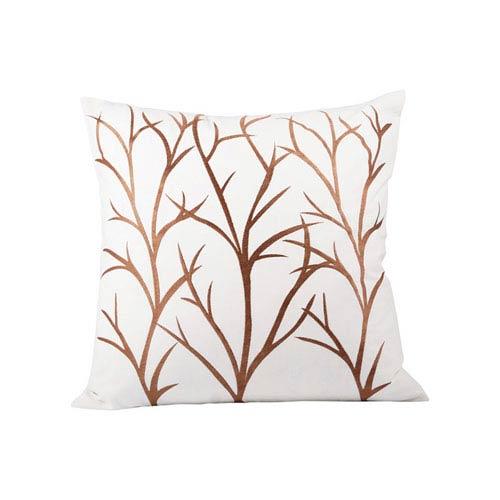 Pomeroy Willows Crema and Dark Earth Throw Pillow