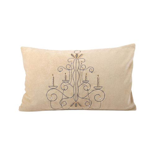 Chandelier Champagne and Chateau Graye Throw Pillow