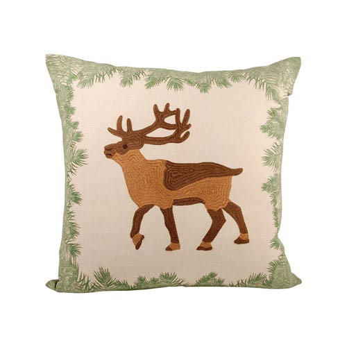 Elk Evergreen and Cafe Throw Pillow
