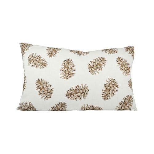 Pinetop Crema and Coco Throw Pillow