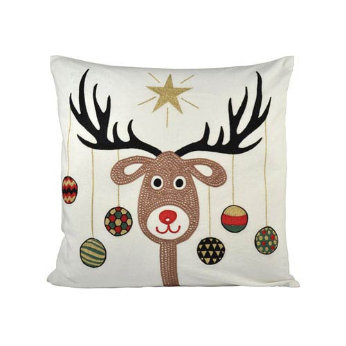 Donner Snow and Coco Throw Pillow