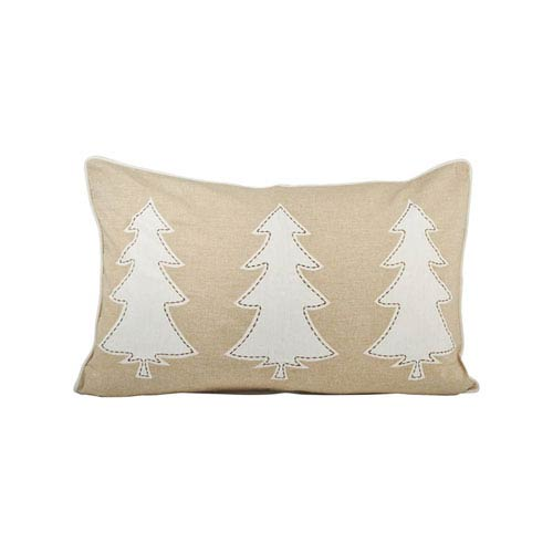 Winters Edge Sand and Crema Throw Pillow
