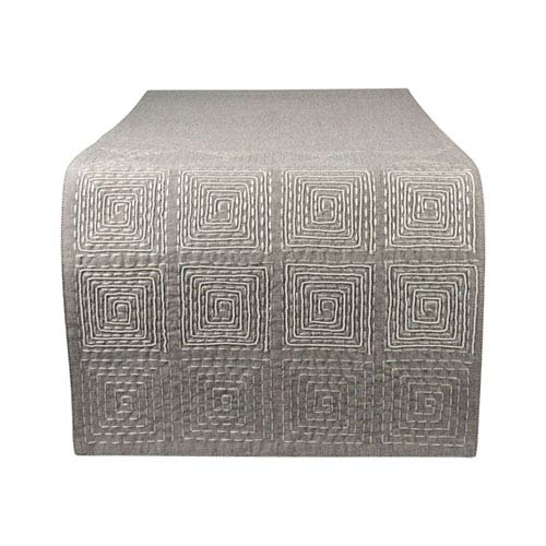 Piazza Grey Table Runner
