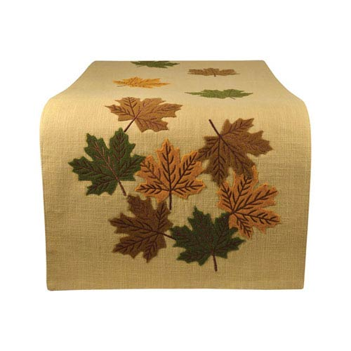 Falling Trees Wheat and Autumn Table Runner