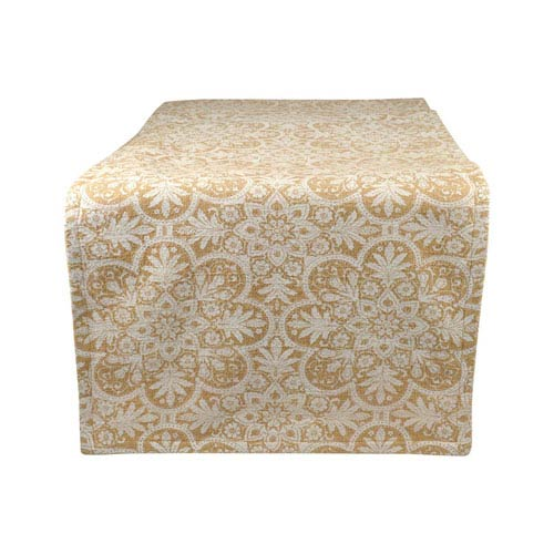 Floralee Dusty Dijon and Antique White Table Runner