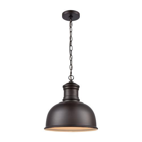 Cedar Park Brown Oil Rubbed Bronze One-Light Outdoor Pendant