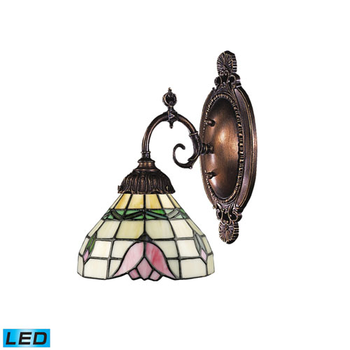 Elk Lighting Mix-N-Match Tiffany Bronze 10-Inch Dimming LED One Light Wall Sconce