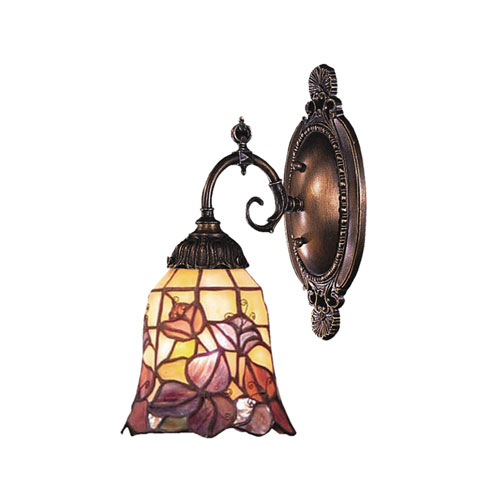 Floral Garden Mix-N-Match Tiffany Bronze One Light Wall Sconce