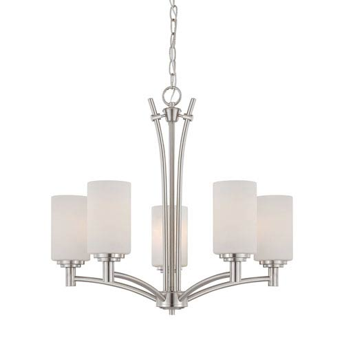 Pittman Brushed Nickel Five-Light Chandelier
