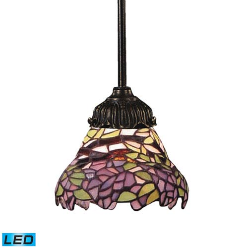 Mix-N-Match Tiffany Bronze LED One Light Mini Pendant