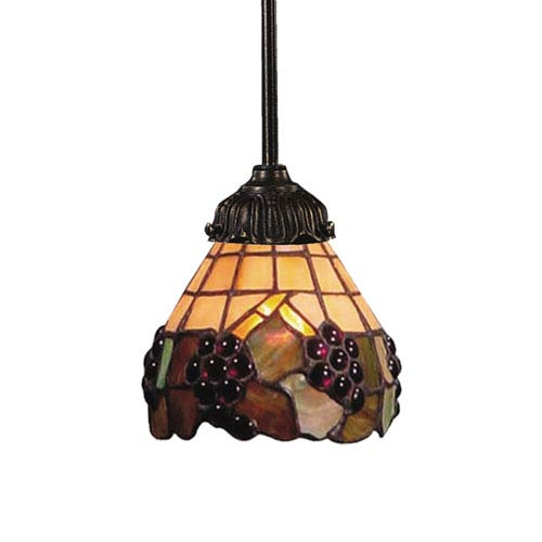 Elk Lighting Mix-N-Match Tiffany Bronze 3-Inch One Light Down Mini Pendant