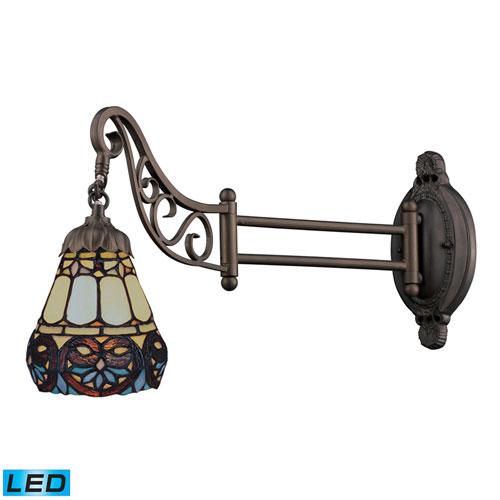 Mix-N-Match Tiffany Bronze LED One Light Swingarm Lamp with Full Range Dimming