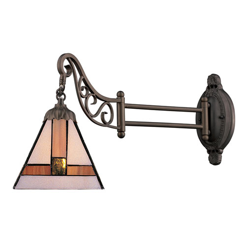 Mix-N-Match Tiffany Bronze 12-Inch One Light Swingarm Lamp