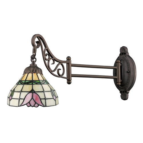 Mix-N-Match Tiffany Bronze 12-Inch One Light Swingarm Lamp Wall Light