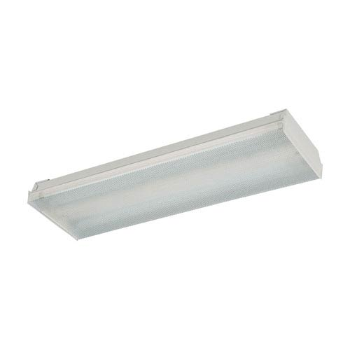 Fluor Clear Two-Light Fluorescent Flush Mount