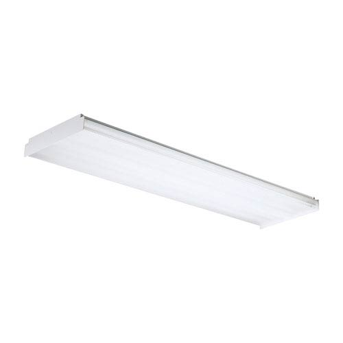 Fluor Clear Four-Light Fluorescent Flush Mount