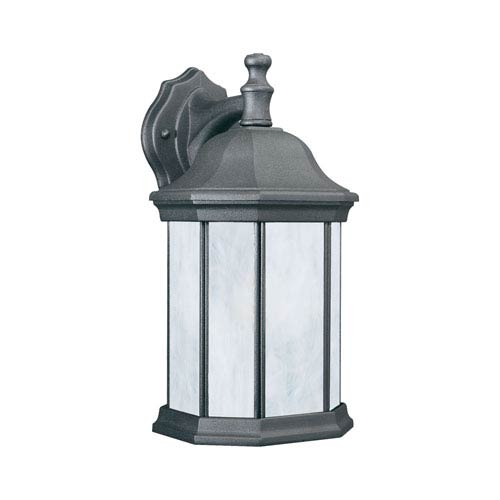 Thomas Lighting Hawthorne Black Eight-Inch Fluorescent Outdoor Wall Sconce