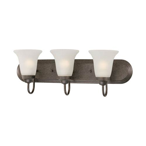 Homestead Colonial Bronze Three-Light Wall Sconce