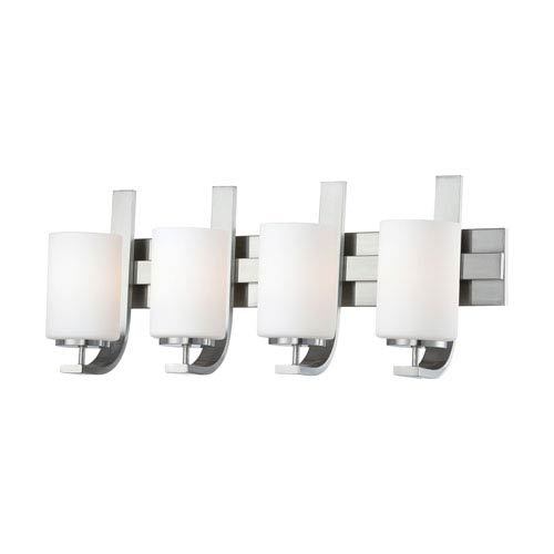 Pendenza Brushed Nickel Four-Light Wall Sconce