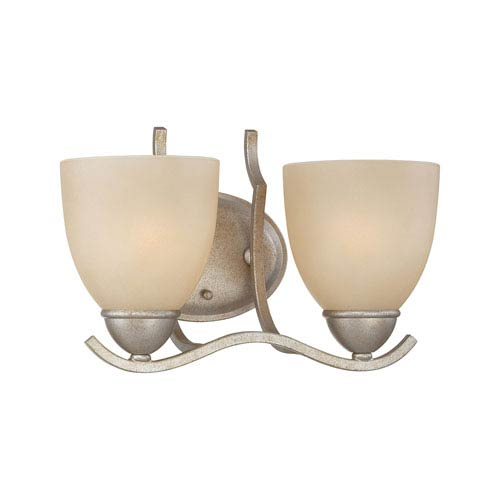 Triton Moonlight Silver Two-Light Wall Sconce