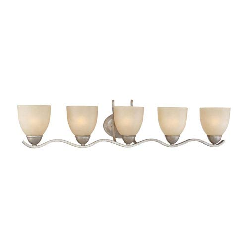Triton Moonlight Silver Five-Light Wall Sconce