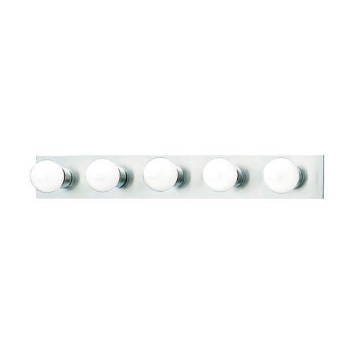 Thomas Lighting Vanity Strips Brushed Nickel Five-Light Wall Sconce