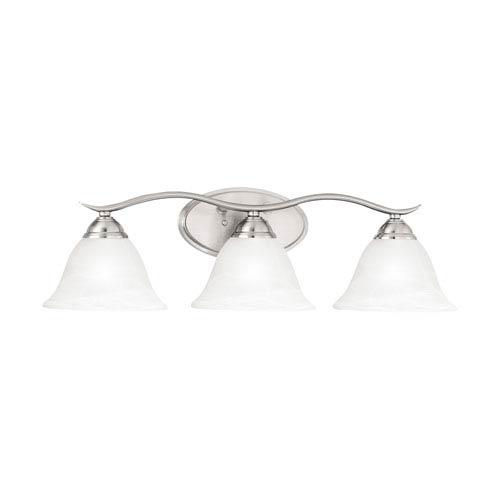 Thomas Lighting Prestige Brushed Nickel Three-Light Wall Sconce