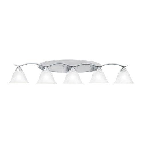 Prestige Brushed Nickel Five-Light Wall Sconce