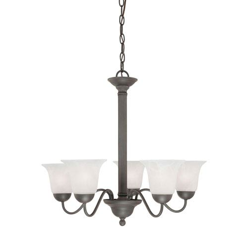 Thomas Lighting Riva Painted Bronze Five-Light Chandelier