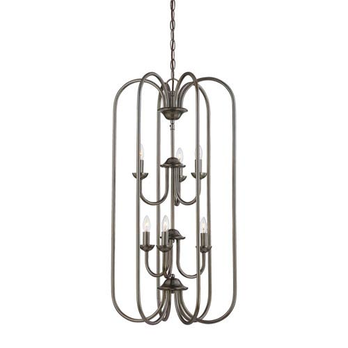 Bella Oiled Bronze Six-Light Chandelier