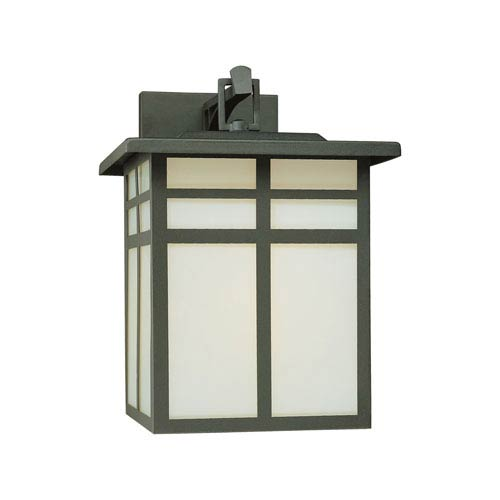 Mission Black 13-Inch Outdoor Wall Sconce