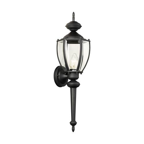 Park Avenue Black 24-Inch Outdoor Wall Sconce