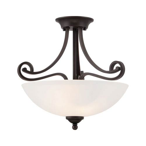 Haven Espresso Two-Light Semi Flush Mount