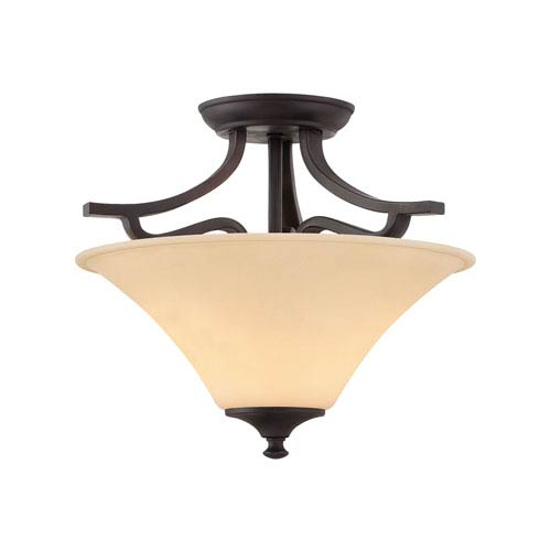 Treme Espresso Two-Light Semi Flush Mount
